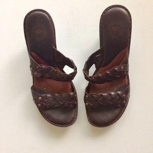 Nurture by Lamaze Brown Weave Wedge Sandal Size 8M